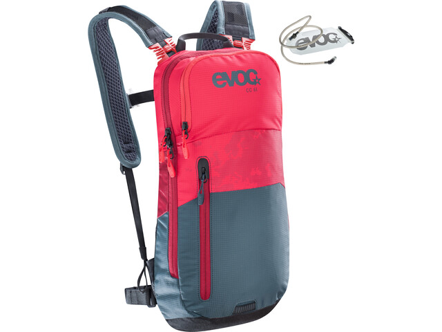 EVOC CC Lite Performance Backpack 6l + Bladder 2l red-slate